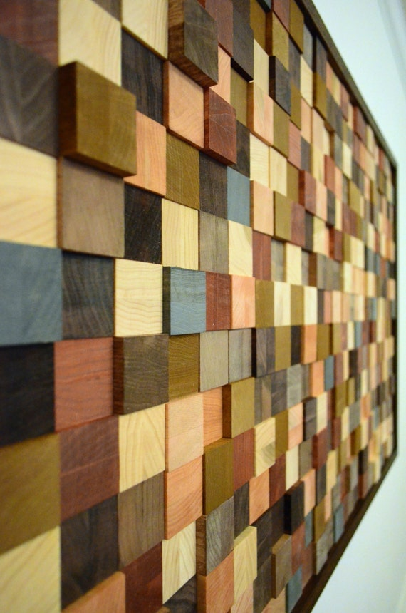 wood wall decor A RANDOM PATTERN wood wall