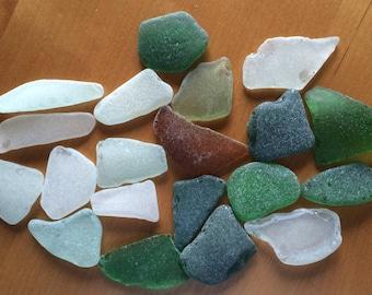 Large Sea Glass, Bulk Sea Glass, Beach Glass, Tumbled Glass