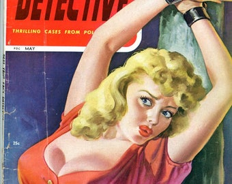 Best True Fact Detective Magazine  1946  Peter Driben Cover Art  Murder Death Stealing Burglary Lust Crimes Greed  Reckless Romeo mature