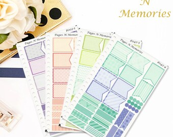 3 Months of Flag Planner Stickers/ Plum Paper Planners/ Monthly Stickers/ Monthly Flags/ #042