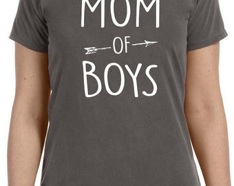 Mom Shirt Mom of Boys Womens T shirt Valentine's Day Gift Mother Shirt Best Mom Gift Wife Gift Funny T shirts Cool Shirt