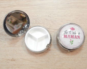 1 box pillulier with mirror glass 40 mm cabochon