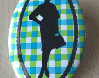 badge / brooch vintage silhouette fashion 15