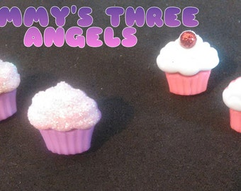 Small Cupcake Studs/ Cupcake Earrings READY TO SHIP