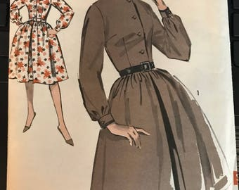 Vintage 50s Easy Sew Adance Uncut Dress Pattern-Size 12 (32-25-34)