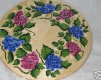 Hand Painted LAZY SUSAN With GRAPES
