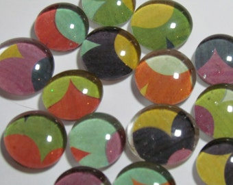 Color Smooshing - Set of 9 glass magnets