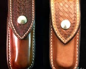 Custom leather sheath buc...
