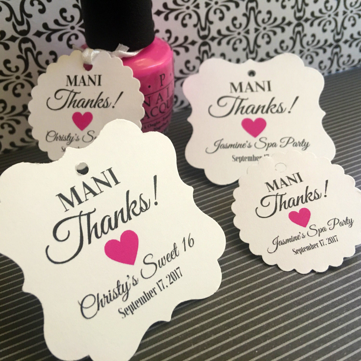 Description Nail Polish Favors