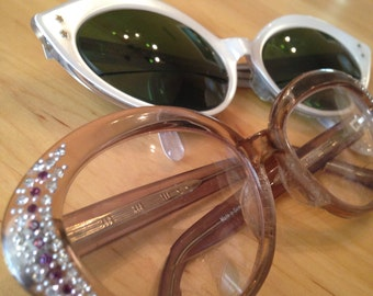 Vintage Eyeware Mixed Lot CatEye Rhinestones France U.S.A.