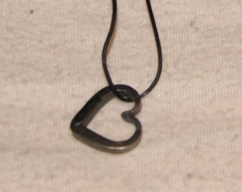 Hand forged heart necklace.