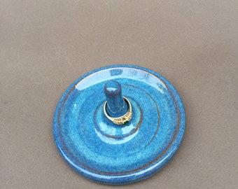 Sky blue ring holder- trinket dish- gift- in stock- handmade jewelry holder