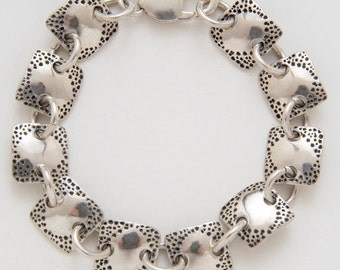Square Diamonds Bracelet made from Vintage Silver American Dimes
