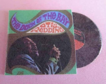 Record Album Otis Redding The Dock of the Bay - dollhouse miniature 1:12 scale