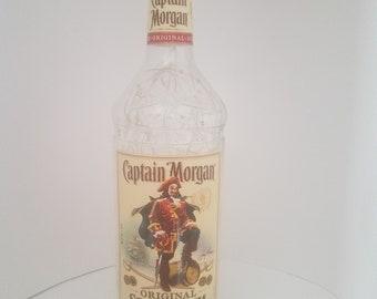 Lighted whiskey bottle