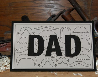 Mustache, Father's Day Card