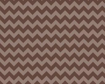 Riley Blake chevron fabric brown tone on tone small chevron print fabric in brown Riley Blake designs small chevron fall fabric