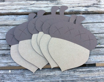 Acorn Die Cuts - Woodland Party, First Birthday, Party Decorations, Baby Shower, Die Cuts