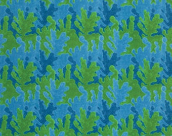 Blue Green Abstract George Mendoza Serendipity Inspirations Fabric 1 yard