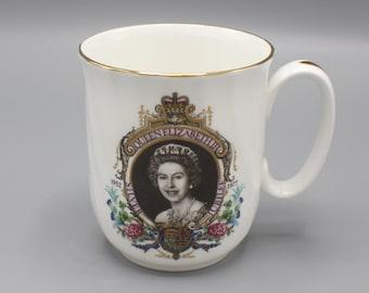 1977 Queen Elizabeth II Silver Jubilee Mug Commemorative Melrosa