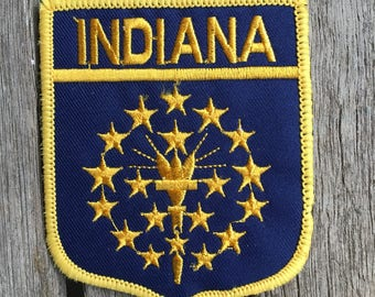 Indiana State Flag Vintage Travel Patch