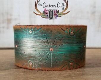 Mystic Green Starburst Cuff