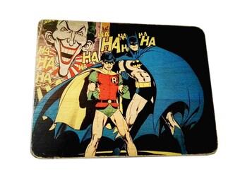 Batman Robin - poster - gift. for. kid. boy - cartoon - comic book - art - print - canvas - Superhero  - Artisanal Woodprint