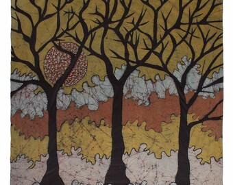 Lenços  Árvores  da Mata Atlântica - Azeitoninha das Nuvens - Gold