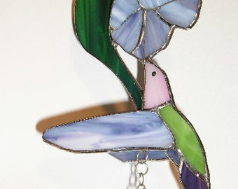 Hummingbird Stained Glass Wind Chime