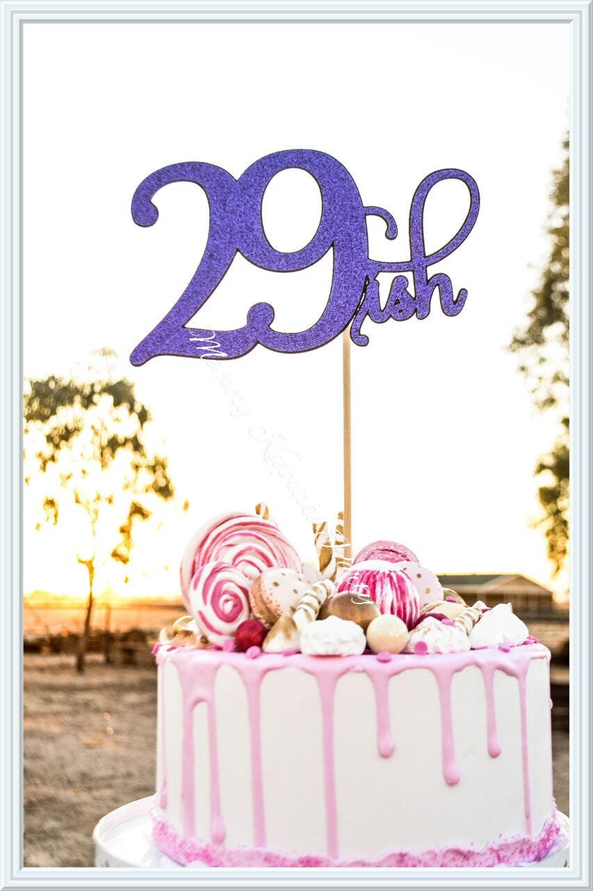 Age Birthday Cake Topper 29th Birthday Cake Topper Age Party