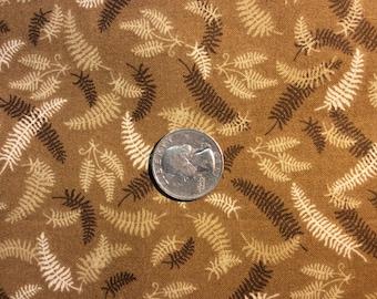 Earth tone fern print fabric