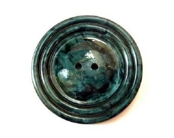 Vintage button, plastic button, giant, beautiful color, 44mm, 5.5mm thick