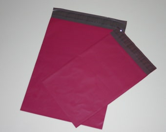 50 10x13 and 7.5x10.5 Raspberry Pink Poly Mailers Envelopes  Self Sealing Assortment Valentine 25 each
