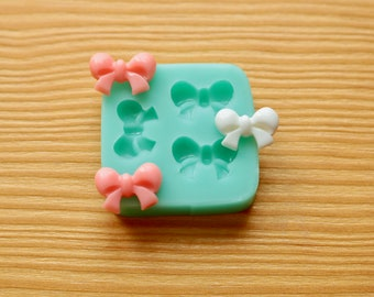 Tiny Bows #3 Silicone Mold (Green)