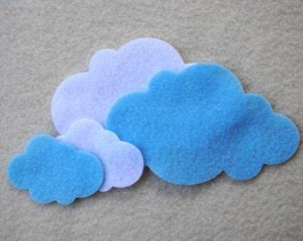 40 Piece Die Cut Felt Clouds, Sunny Day
