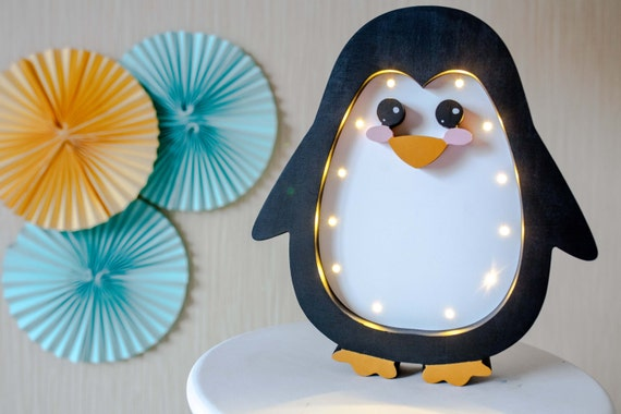Penguin Lamp Night Light Kids Lamp Baby Room Baby Shower Lamp