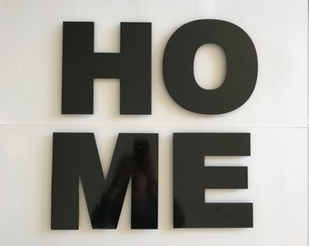 Metal HOME Sign, Home Decor, Metal Letters, Metal Wall Art, HOME Metal Sign, Letters