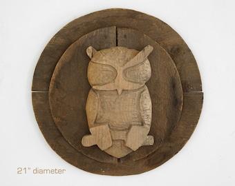 folk art owl carving, vintage owl carving, primitive owl carving, folk art wood carving, americana carving, owl carving, wood owl, folk art