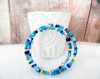 Handmade Turquoise Memory Wire Bracelet