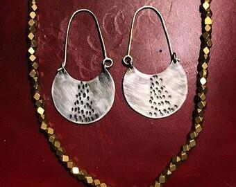 Sterling Silver dangle earrings.