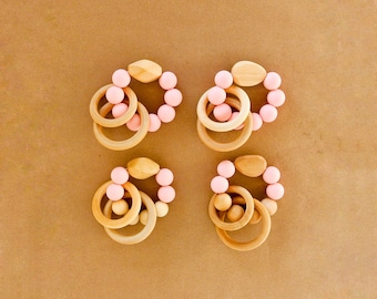 Soft Pink Teething Ring