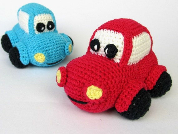 Happy Car Amigurumi Crochet Pattern Pdf E Book Soft Toy