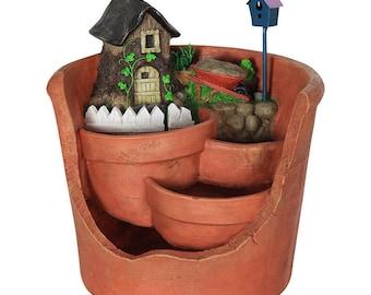 Miniature Garden - Fairy House Succulent Planter - Miniature Fairy Garden Supplies