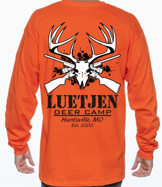 Personalized Deer Hunting Shirts / Deer Camp Shirts / Long Sleeve Shirts 4lXenWcn