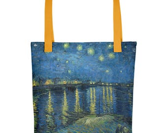 Vincent Van Gogh, Starry Night Over the Rhone - Tote bag