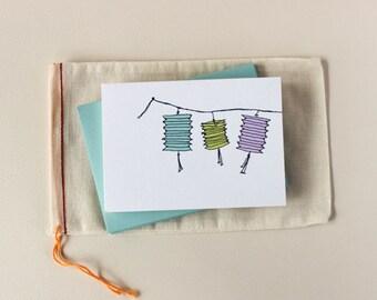 Paper Lanterns Notecard Set