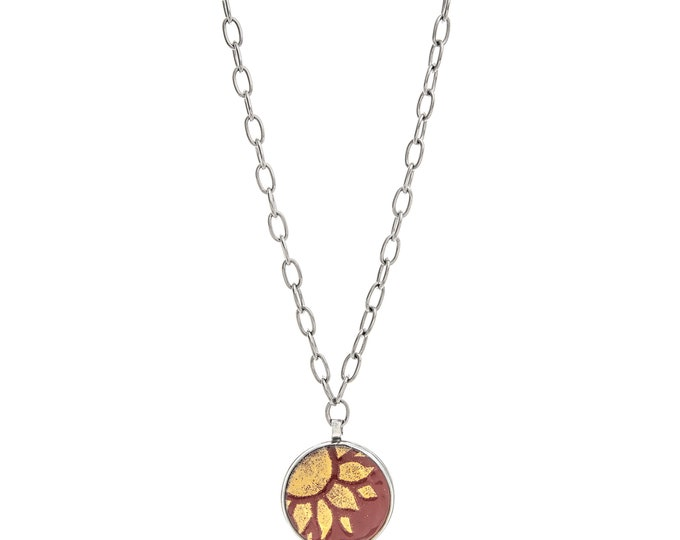 Featured listing image: Sun Salutation Enamel Statement Necklace