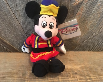 7873011913e Vintage Mickey Mouse Beanie Babies  Christmas Nutcracker Mickey 8 in Mini  Bean Bag  The Disney Store Exclusive Stuffed Toy