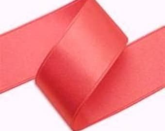 7/8 x 25  yds CORAL SATIN RIBBON
