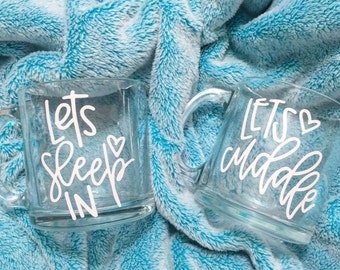 SALE ITEM | Let's Cuddle | 13 oz. Glass Mug | Coffee | Tea | Hot Cocoa | Cappucino